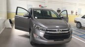 Toyota Innova Crysta 2.4 V front spied at dealership