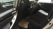Toyota Innova Crysta 2.4 V rear cabin spied at dealership
