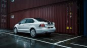 125 PS VW Polo GT sedan rear three quarter unveiled in Russia