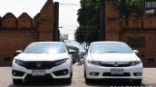 2016 Honda Civic vs 2014 Honda Civic front In Images