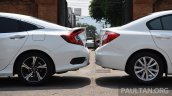2016 Honda Civic vs 2014 Honda Civic rear ends In Images