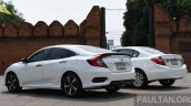 2016 Honda Civic vs 2014 Honda Civic rear quarter In Images