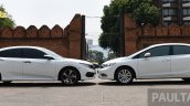 2016 Honda Civic vs 2014 Honda Civic side In Images