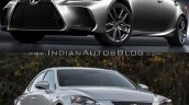 2016 Lexus IS vs. 2014 Lexus IS exterior comparision