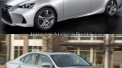 2016 Lexus IS vs. 2014 Lexus IS exterior