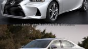 2016 Lexus IS vs. 2014 Lexus IS front three quarters left side