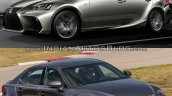 2016 Lexus IS vs. 2014 Lexus IS front three quarters