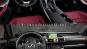 2016 Lexus IS vs. 2014 Lexus IS interior dashboard