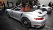 2016 Porsche 911 Turbo S Cabriolet rear three quarters left side at Auto China 2016