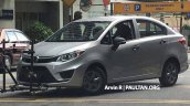 2016 Proton Persona spied front three quarter completely undisguised