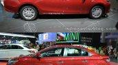 2016 Toyota Vios vs. 2014 Toyota Vios side profile
