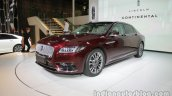 2017 Lincoln Continental front three quarters at Auto China 2016