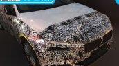 BMW 1 Series sedan headlight spied