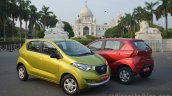 Datsun redi-GO lime green and Ruby red Review