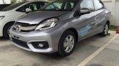 Honda Brio Amaze facelift front quarter Thailand live pics