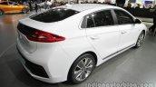 Hyundai Ioniq Hybrid rear three quarters right side at Auto China 2016