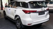 India-bound 2016 Toyota Fortuner rear three quarter launched in Malaysia