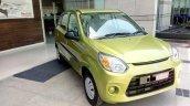 Maruti Alto 800 facelift Mojito Green front quarter spied