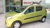 Maruti Alto 800 facelift Mojito Green side spied