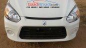 Maruti Alto 800 facelift front fascia spied