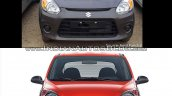 Maruti Alto 800 facelift vs Older model front