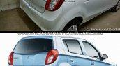 Maruti Alto 800 facelift vs Older model rear