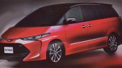 New leaks reveal the front of the 2017 Toyota Previa