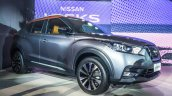 Nissan Kicks compact SUV front three quarter in the flesh
