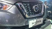 Nissan Kicks compact SUV grille in the flesh