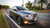 Nissan Kicks front three quarters in motion