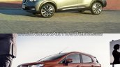 Nissan Kicks vs. Ford EcoSport front three quarters left side