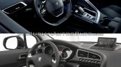 Peugeot 3008 interior Old vs New