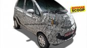 Tata Nano Pelican front quarter spied for the first time