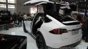 Tesla Model X at rear three quarters Auto China 2016