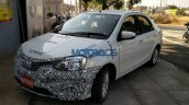 Toyota Etios facelift with new grille spied in India
