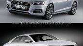2016 Audi A5 Coupe vs. 2012 Audi A5 Coupe exterior front three quarters