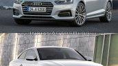 2016 Audi A5 Coupe vs. 2012 Audi A5 Coupe front three quarters