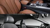 2016 Audi A5 Coupe vs. 2012 Audi A5 Coupe interior front seats
