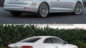 2016 Audi A5 Coupe vs. 2012 Audi A5 Coupe rear three quarters