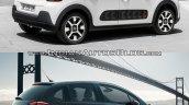 2016 Citroen C3 vs. 2014 Citroen C3 rear three quarters right side