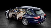 2016 Mercedes E-Class Estate doors open exterior-interior combined view