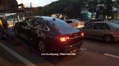 2016 Proton Perdana rear three quarter spied near a dealership