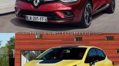 2016 Renault Clio (facelift) vs. 2012 Renault Clio front three quarters left side