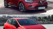 2016 Renault Clio (facelift) vs. 2012 Renault Clio front three quarters right side
