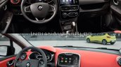 2016 Renault Clio (facelift) vs. 2012 Renault Clio interior dashboard