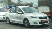 2016 Skoda Rapid (facelift) front three quarter spied by IAB reader