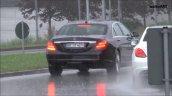 2017 Mercedes S-Class (facelift) rear three quarters spy shot