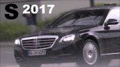 2017 Mercedes S-Class (facelift) spy shot