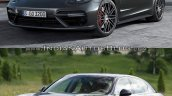 2017 Porsche Panamera vs. 2014 Porsche Panamera front three quarters left sde