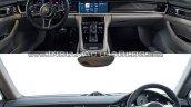 2017 Porsche Panamera vs. 2014 Porsche Panamera interior dashboard